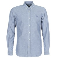 material Men long-sleeved shirts Serge Blanco 15 DOS Blue