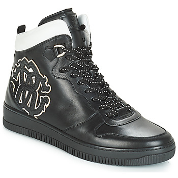 Shoes Men High top trainers Roberto Cavalli TEKSA Black