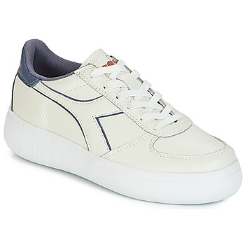 Shoes Women Low top trainers Diadora B.ELITE L WIDE WN Ecru / Grey