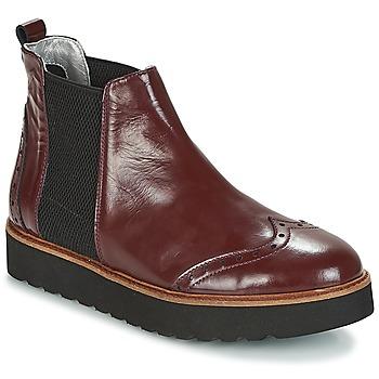 Shoes Women Mid boots Ippon Vintage HUNTER THICK Bordeaux