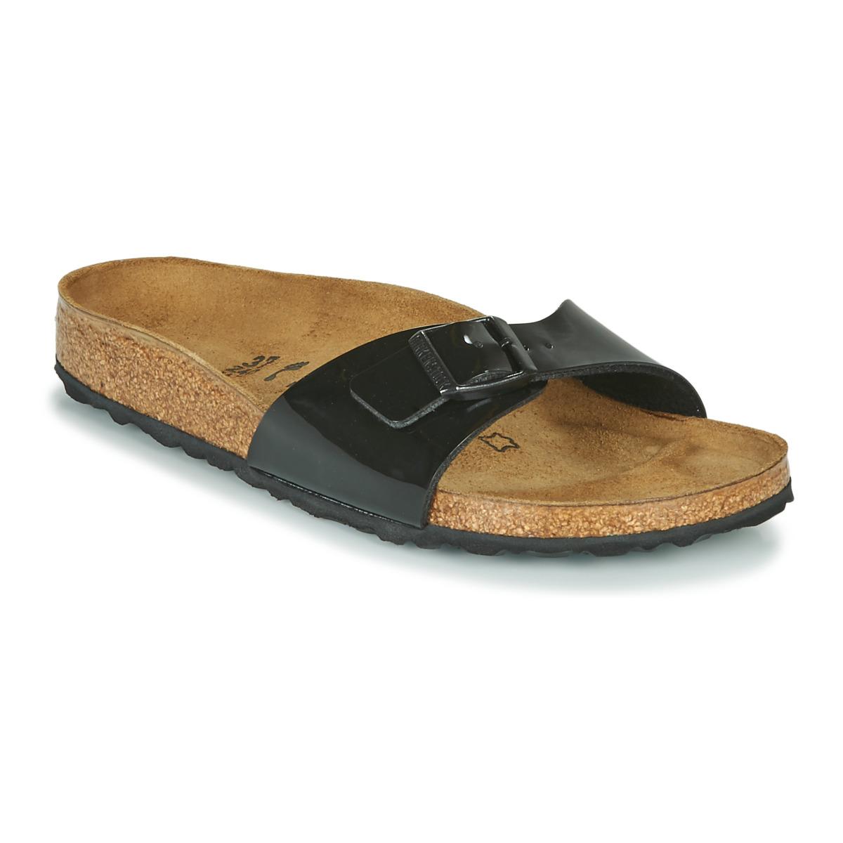 Simetría Descriptivo Triturado  Birkenstock MADRID Black / Varnish - Fast delivery | Spartoo Europe ! -  Shoes Mules Women 65,00 €