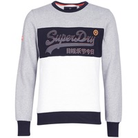 material Men sweaters Superdry VINTAGE LOGO PANEL CREW Grey / White