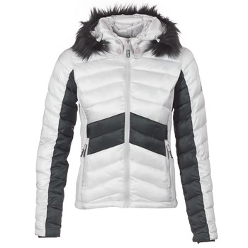material Women Duffel coats Superdry OFFSHORE LUXE CHEVRON FUJI Grey / Black