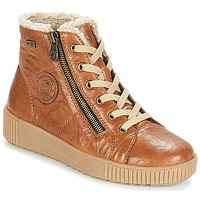 Shoes Women High top trainers Remonte Dorndorf SERNNA Leather / Chestnut