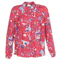 material Women Shirts Vila VIESTO Red