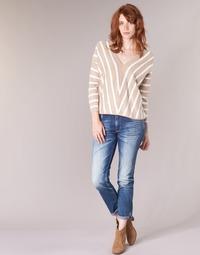 material Women slim jeans Le Temps des Cerises HERITAGE Blue / Medium