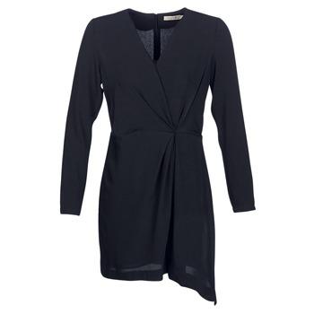 material Women Short Dresses See U Soon TUNGURA Black