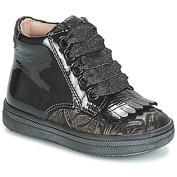 Shoes Girl High top trainers Acebo's DOLAGIRI Black / Silver