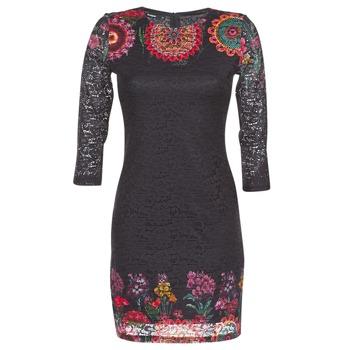material Women Short Dresses Desigual DARINA Black