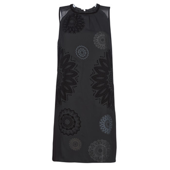 material Women Short Dresses Desigual ZAGREB Black