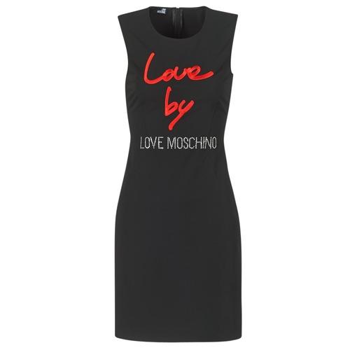 material Women Short Dresses Love Moschino CARININA Black