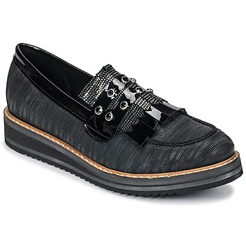 Shoes Women Loafers Regard RUVOLO V1 ZIP NERO Black