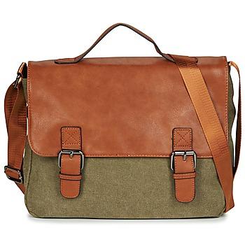 Bags Men Messenger bags Casual Attitude HENVI Kaki / Cognac