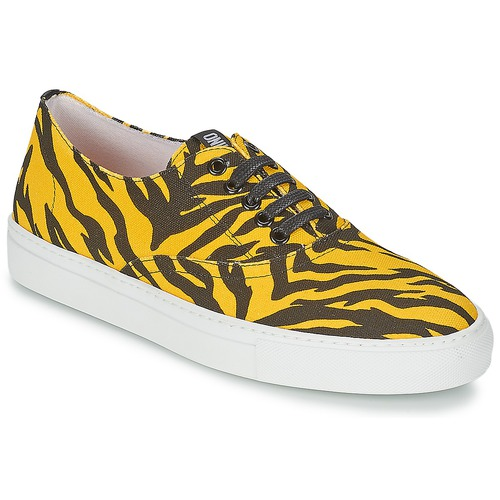 Shoes Women Low top trainers Moschino Cheap & CHIC LIBORIA Yellow / Black