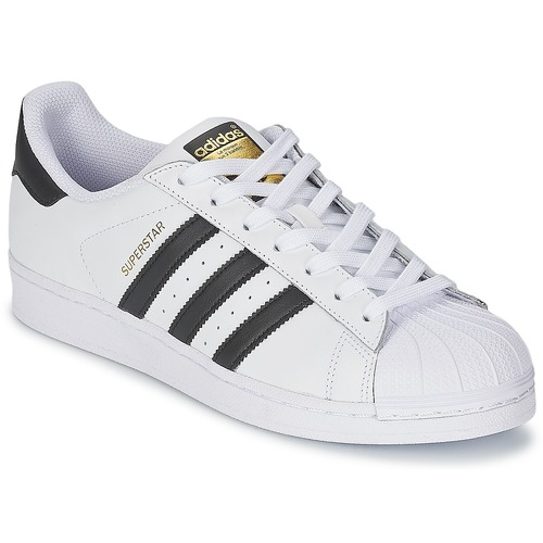 adidas Originals SUPERSTAR White / Black - Fast delivery | Spartoo ...