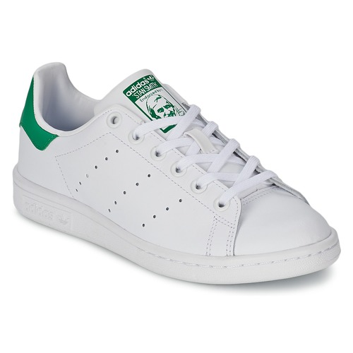 49413e01f66 Shoes Children Low top trainers adidas Originals STAN SMITH J White   Green