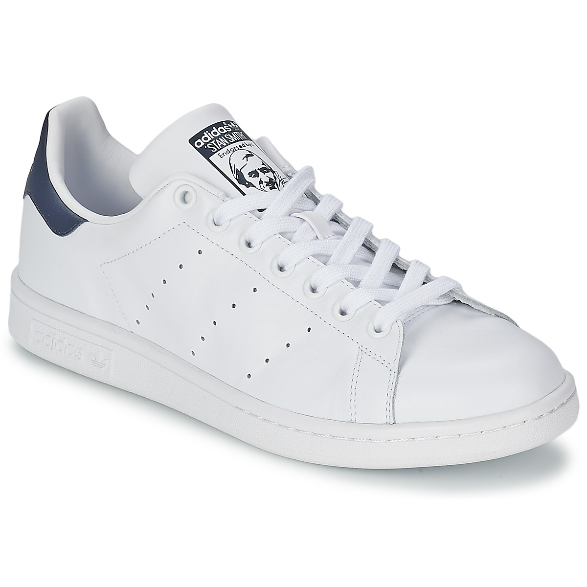 adidas Originals STAN SMITH White   Blue - Fast delivery with ... d768e05684dd6