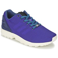 Shoes Men Low top trainers adidas Originals ZX FLUX WEAVE Blue