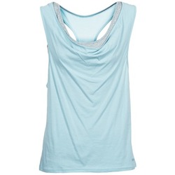 material Women Tops / Sleeveless T-shirts Bench SKINNIE Blue