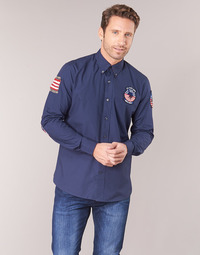 material Men long-sleeved shirts U.S Polo Assn. USA PATCH SHIRT BD Marine
