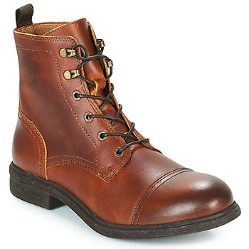 Shoes Men Mid boots Selected TERREL LEATHER BOOT Brown