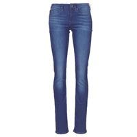 material Women straight jeans G-Star Raw MIDGE SADDLE MID STRAIGHT Blue / Medium / Aged