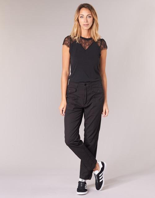material Women Cargo trousers  G-Star Raw ARMY RADAR MID BF Black