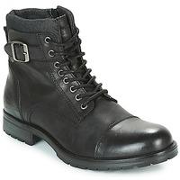 Shoes Men Mid boots Jack & Jones ALBANY LEATHER Black