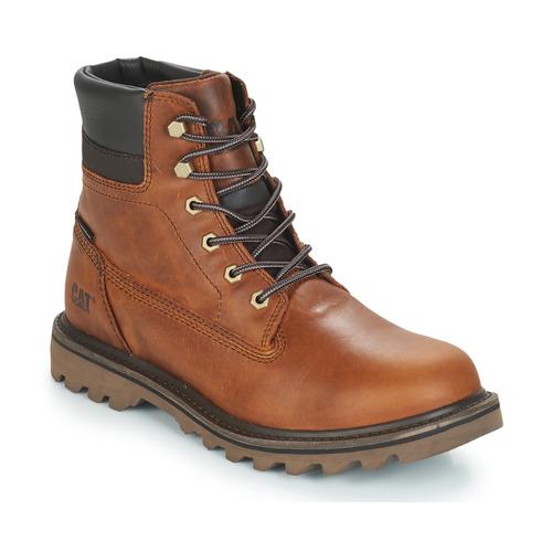 Shoes Men Mid boots Caterpillar DEPLETE WP Brown