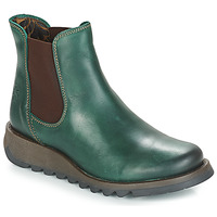 Shoes Women Mid boots Fly London SALV Petrol / Green
