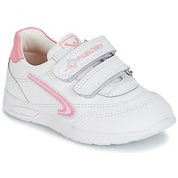 Shoes Girl Low top trainers Pablosky BRAVIN White / Pink