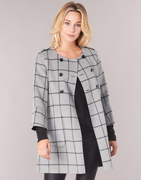 material Women coats Benetton MADJAR Black / Grey