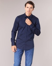 material Men long-sleeved shirts Benetton MAKA Marine