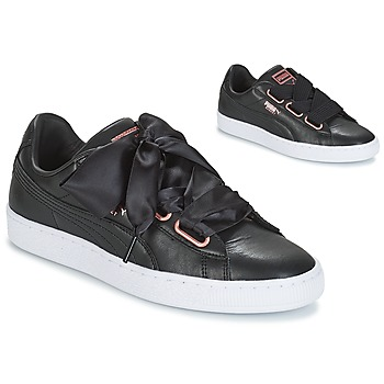 Shoes Women Low top trainers Puma WN SUEDE HEART LEATHER.BLA  black