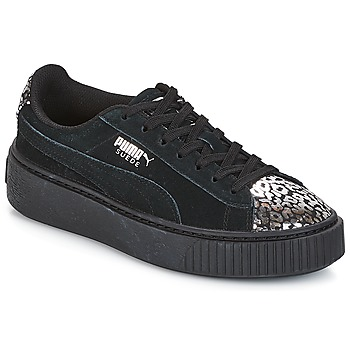 Shoes Girl Low top trainers Puma G JR S PLATFORM ATHLUXE.BL  black
