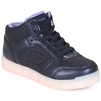 Shoes Girl High top trainers Skechers ENERGY LIGHTS Navy