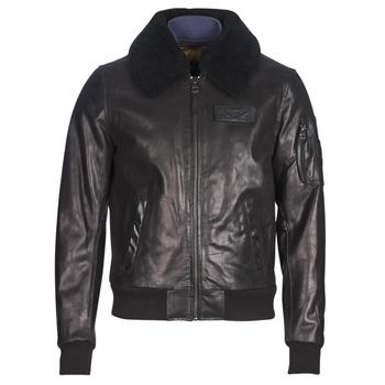 material Men Leather jackets / Imitation leather Redskins COMMANDER STRIKING Black