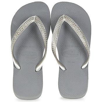 Shoes Women Flip flops Havaianas TOP METALLIC Grey / Steel
