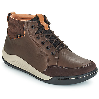 Shoes Men High top trainers Clarks ASHCOMBE Brown