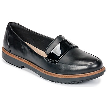 Shoes Women Loafers Clarks Raisie Arlie  black