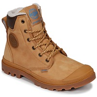 Shoes Mid boots Palladium PAMPA SPORT CUFF WPS Yellow / Brown