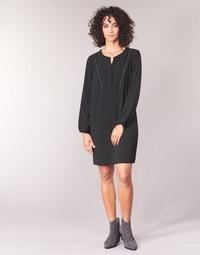 material Women Short Dresses Ikks BURRI Black