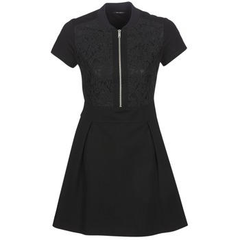material Women Short Dresses Ikks CIRCEL Black