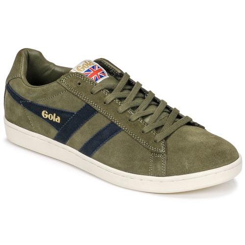 Shoes Men Low top trainers Gola Equipe Suede Kaki / Marine