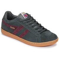 Shoes Men Low top trainers Gola Equipe Suede Grey / Bordeaux