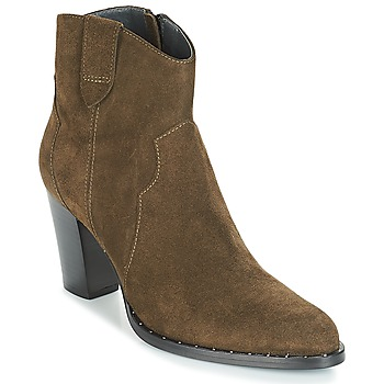 Shoes Women Ankle boots Myma PLOUTAS Kaki