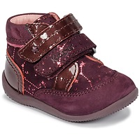 Shoes Girl Mid boots Kickers BILIANA Violet / Pink