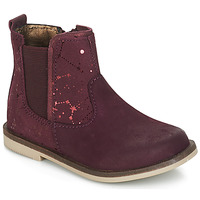 Shoes Girl Mid boots Kickers MOON Bordeaux