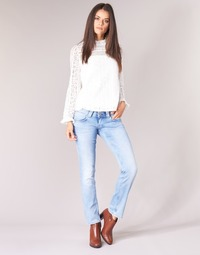material Women straight jeans Pepe jeans VENUS Blue / Clear