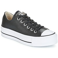 Converse Chuck Taylor All Star Lift Clean Ox Leather Black White Fast Delivery Spartoo Europe Shoes Low Top Trainers Women 90 00